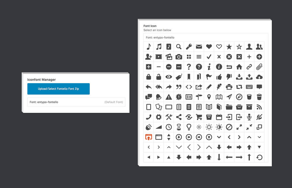 feature iconfonts