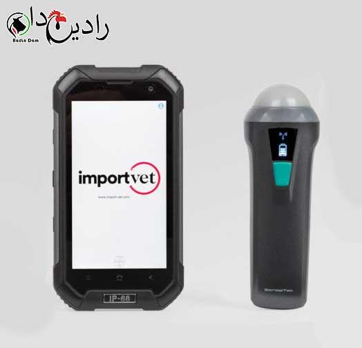 دستگاه سونوگرافی دام سبک importvet Tecnoscan SV-2 Wi-Fi probe